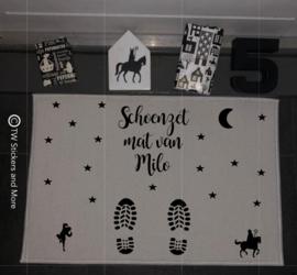 Schoenzet mat met naam/namen
