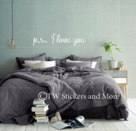 p.s. I love you (lettertype naar keuze)