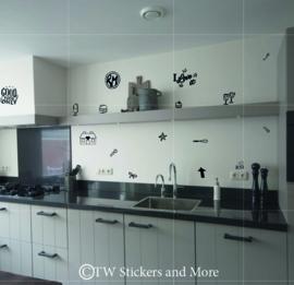 Keuken doodles (huisje naar keuze)