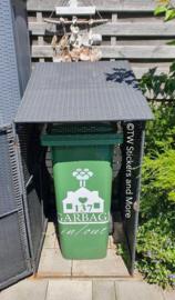 Garbage in/out met huisnummer (huisje naar keuze)