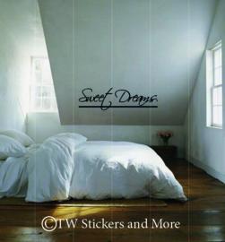 Sweet Dreams met streep eronder (lettertype naar keuze)