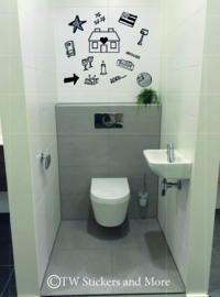 Toilet doodles 4 (huisje naar keuze)