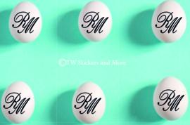 Set van 8 stickers 3 (letters naar keuze)