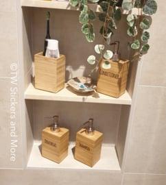 Bodylotion, shampoo, conditioner, handzeep en douchegel set van 5