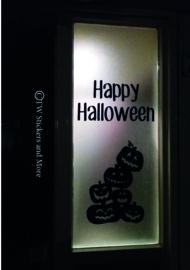 Happy Halloween met pompoenen