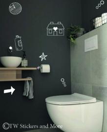 Toilet doodles 2 (huisje naar keuze)