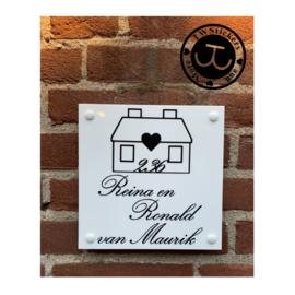 RM look huis met tekst en huisnummer in huis