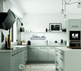 Kitchen Rules (lettertype naar keuze)