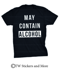 MAY CONTAIN ALCOHOL (lettertype naar wens)