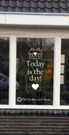Today is the day! (lettertype en huisje naar wens)