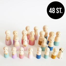 BASIC Aanvulling houten poppetjes (48st.)