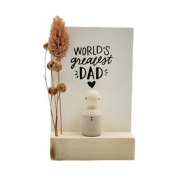 """Cadeaudoosje """"World's greatest dad"""""""