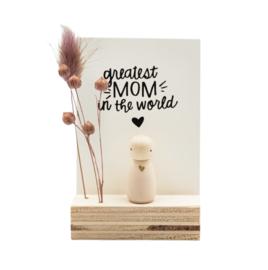 """Cadeaudoosje """"Greatest mom in the world"""""""