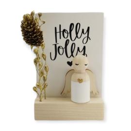 """Cadeaudoosje Kerst """"Holly Jolly"""""""