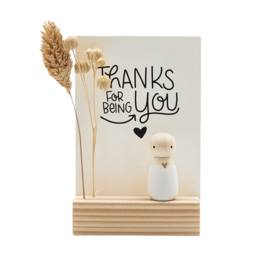 """Cadeaudoosje """"Thanks for being you"""""""