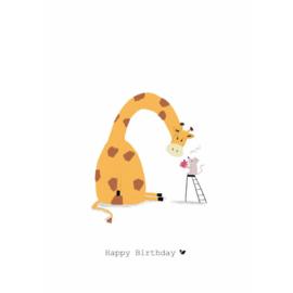 HAPPY BIRTHDAY GIRAFFE - Nadine Illustraties