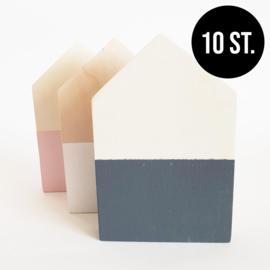 BASIC Houten huisje  (10st.)