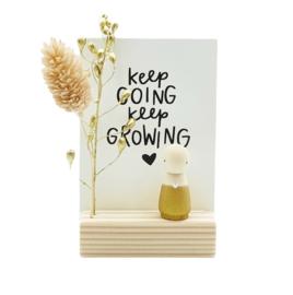 "Cadeaudoosje ""Keep going, keep growing"""