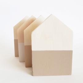 NATURE Houten huisje off white/taupe/bruin/beige