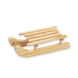 Kerst houten slee