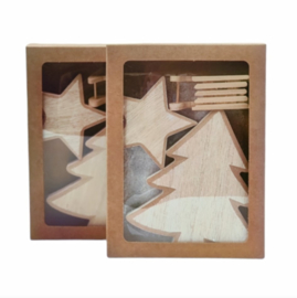 Kerst-collectie Aanvulling hout 5x
