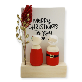 "Cadeaudoosje Kerst ""Merry Christmas to you"""