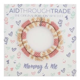 Mommy & Me Roll-On® Bracelets Desert Rose