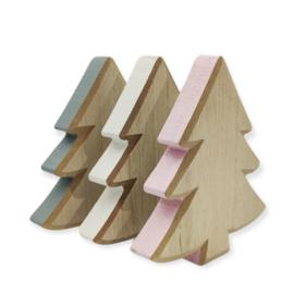 Kerst houten boom