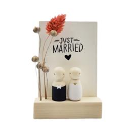 """Cadeaudoosje """"Just married"""""""