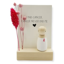 "Cadeaudoosje ""I had cancer, cancer never had me"""