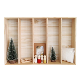 Kerst-collectie Houten bak met inhoud