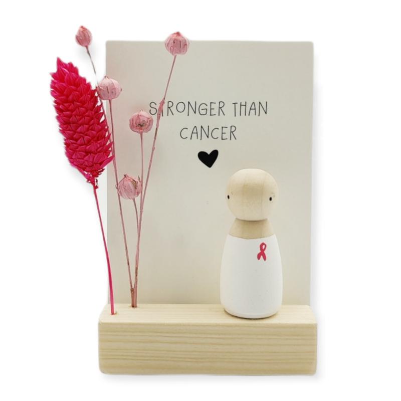 "Cadeaudoosje ""Stronger than cancer"""
