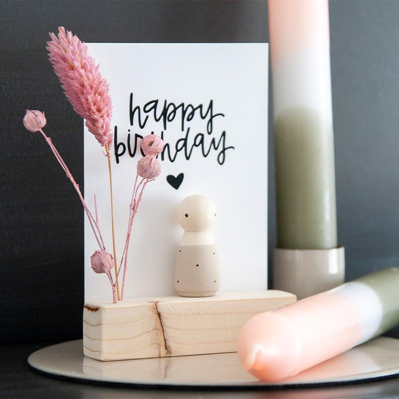 Cadeaudoosjes, houten poppetjes cadeau, verjaardagscadeau poppetje | Sweet Petite Jolie