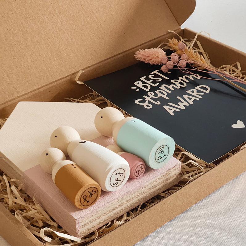 Moederdag cadeau, houten poppetjes moeder, houten poppetjes gezin | Sweet Petite Jolie