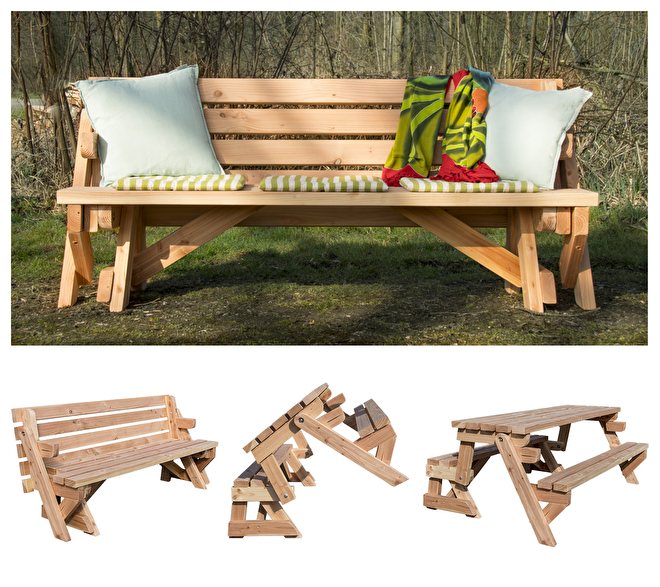 inklapbare picknicktafel