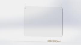 Plexiglas preventiescherm – hangend -  120 x 65 cm