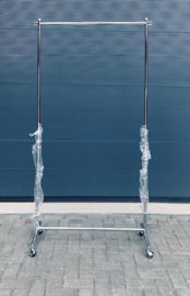 Pedicurescherm -in hoogte verstelbaar en verrijdbaar