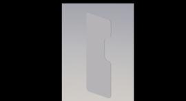 Optiekscherm - Polycarbonaat 170 cm x 75 cm