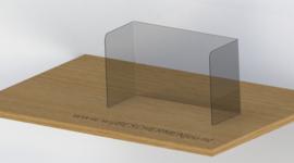 Schoolscherm - Polycarbonaat (slagvast en onbreekbaar)