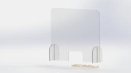 Balie Algemeen  - Plexiglas preventiescherm – vrijstaand op poten 75 x 60 cm