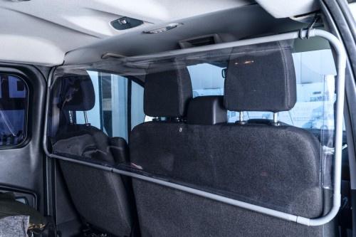 Autoscherm tussen voor- en achterbank (diverse afmetingen)