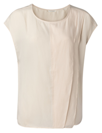 Mouwloze ruffle top pale peach