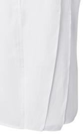 Mouwloze ruffle top pure white
