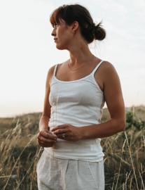 Laura mouwloze katoenen top, wit