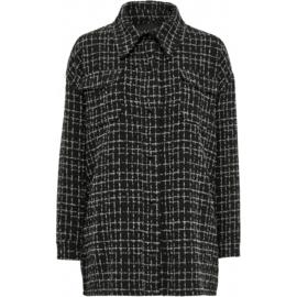 Jada shirt jacket - black