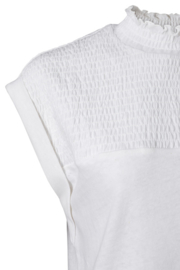 Smocked top off white