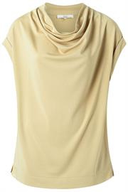 Drape neck top - macaroon