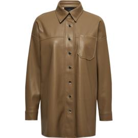 Jamilla shirt jacket - sepia tint