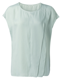 Mouwloze ruffle top powder blue