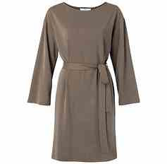 Taupe/Chocolade tuniek jurk